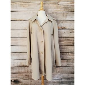 Vintage Mulberry Street Tan Trench Coat Jacket